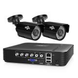 Hiseeu HD 4CH 1080N 5 in 1 AHD DVR Kit CCTV System 2pcs 720P AHD Waterproof IR P2P Security Camera