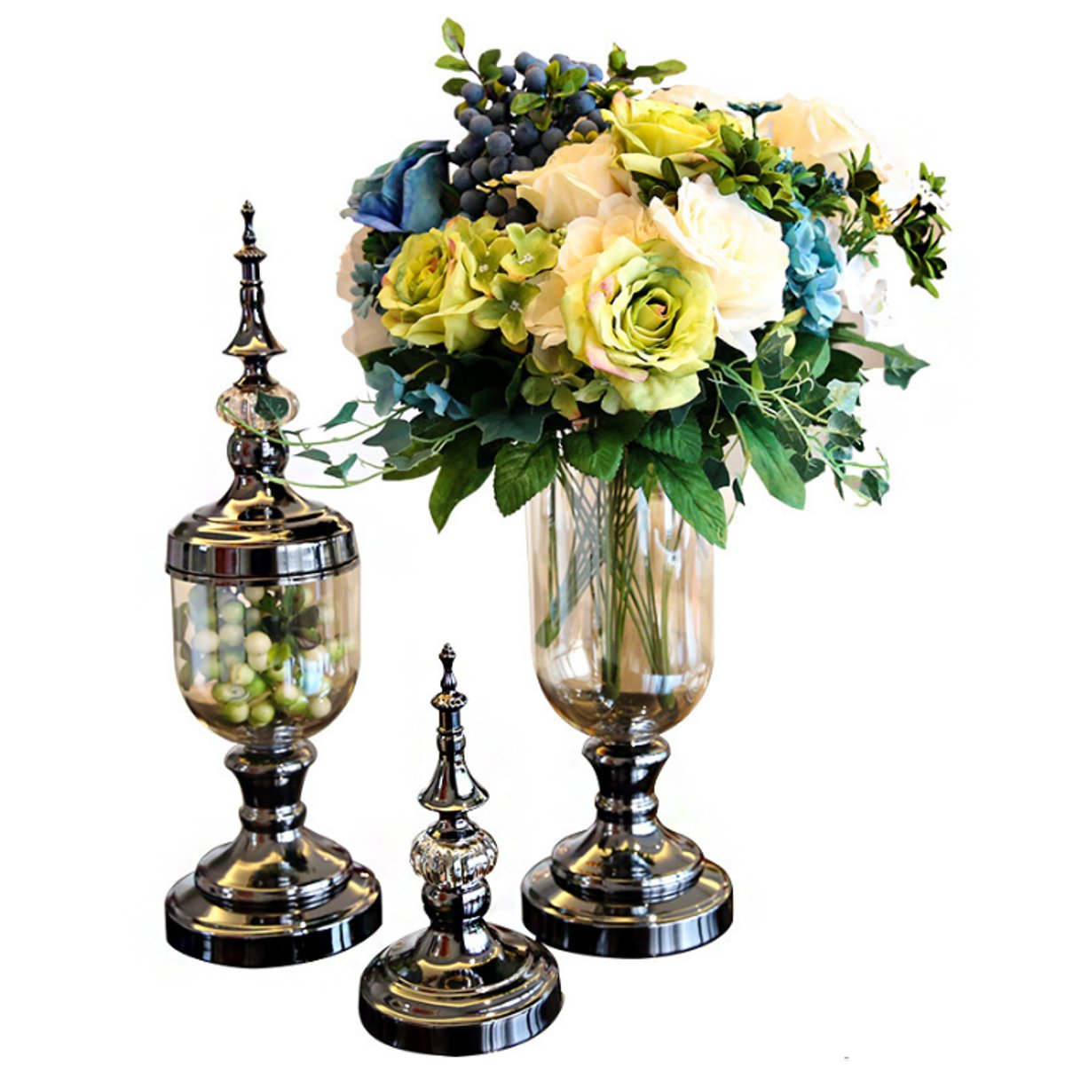 Flower Vases For Weddings: European Glass Flower Vase Floral Holder Wedding Party