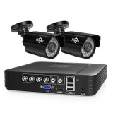 Hiseeu HD 4CH 1080N 5 in 1 AHD DVR Kit CCTV System 2pcs 1080P AHD Waterproof IR P2P Security Camera