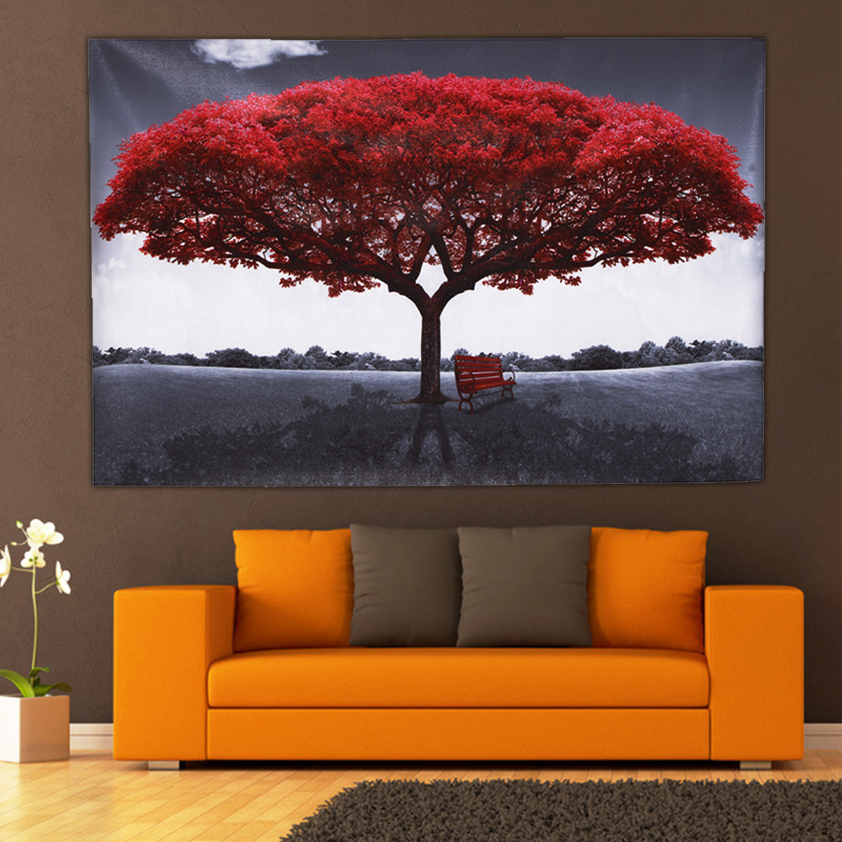 Large Red Tree Canvas Modern Home Wall Decor Art Paintings ...