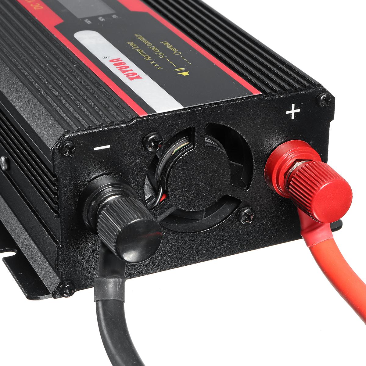 6000W Peak Power Inverter LCD Display DC 12/ 24V to AC 110V/220V Modified Sine Wave Converter