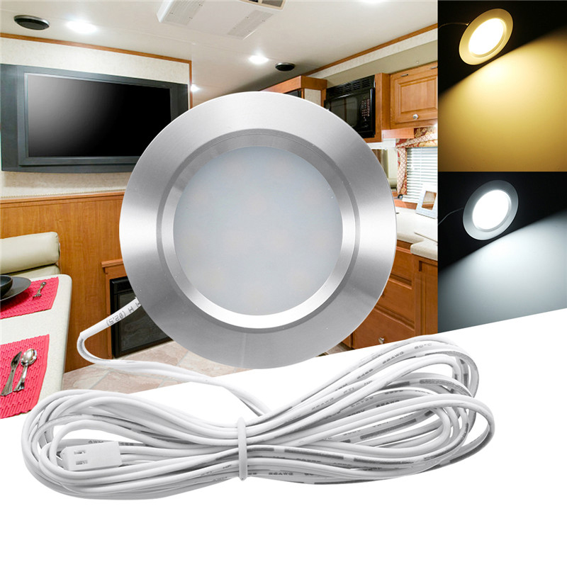 Round Recessed Ceiling Light: RV LED Round Recessed Ceiling Light Flat Panel Down