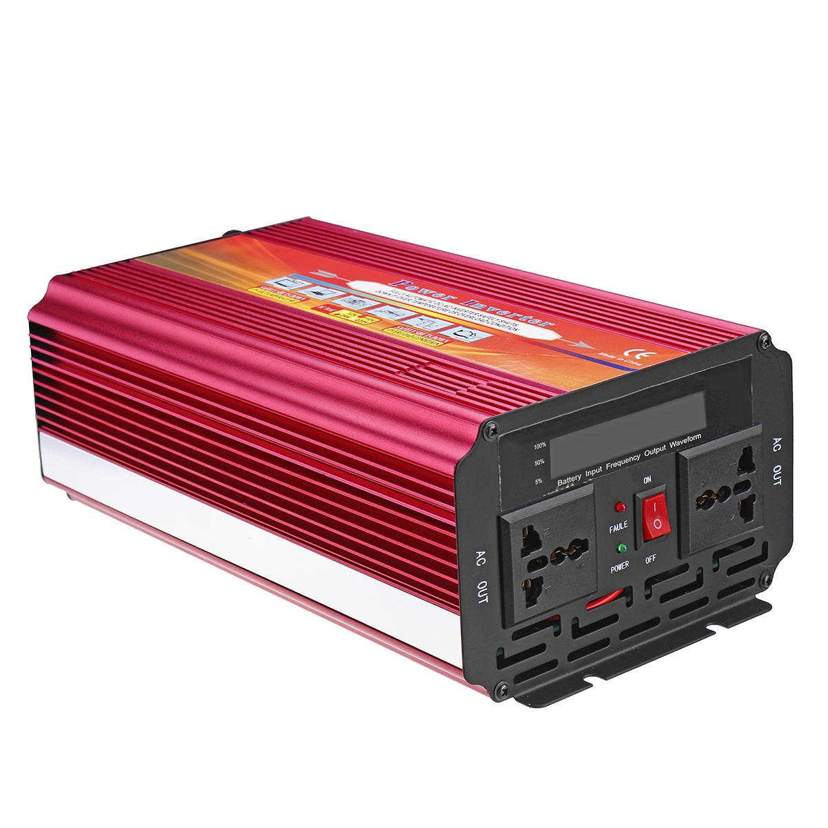 LCD Power Inverter DC 12V/24V to AC 110V/220V 9000W Peak Modified Sine Wave Converter