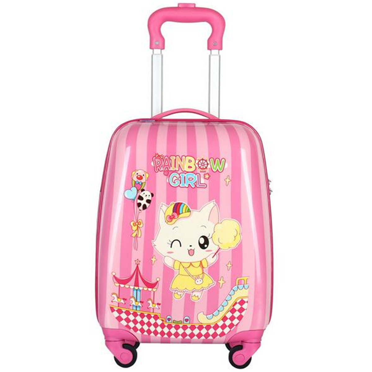 18inch Children Luggage Cartoon Travel Suitcase Camping Aluminium Trolley Bag Rolling Luggage