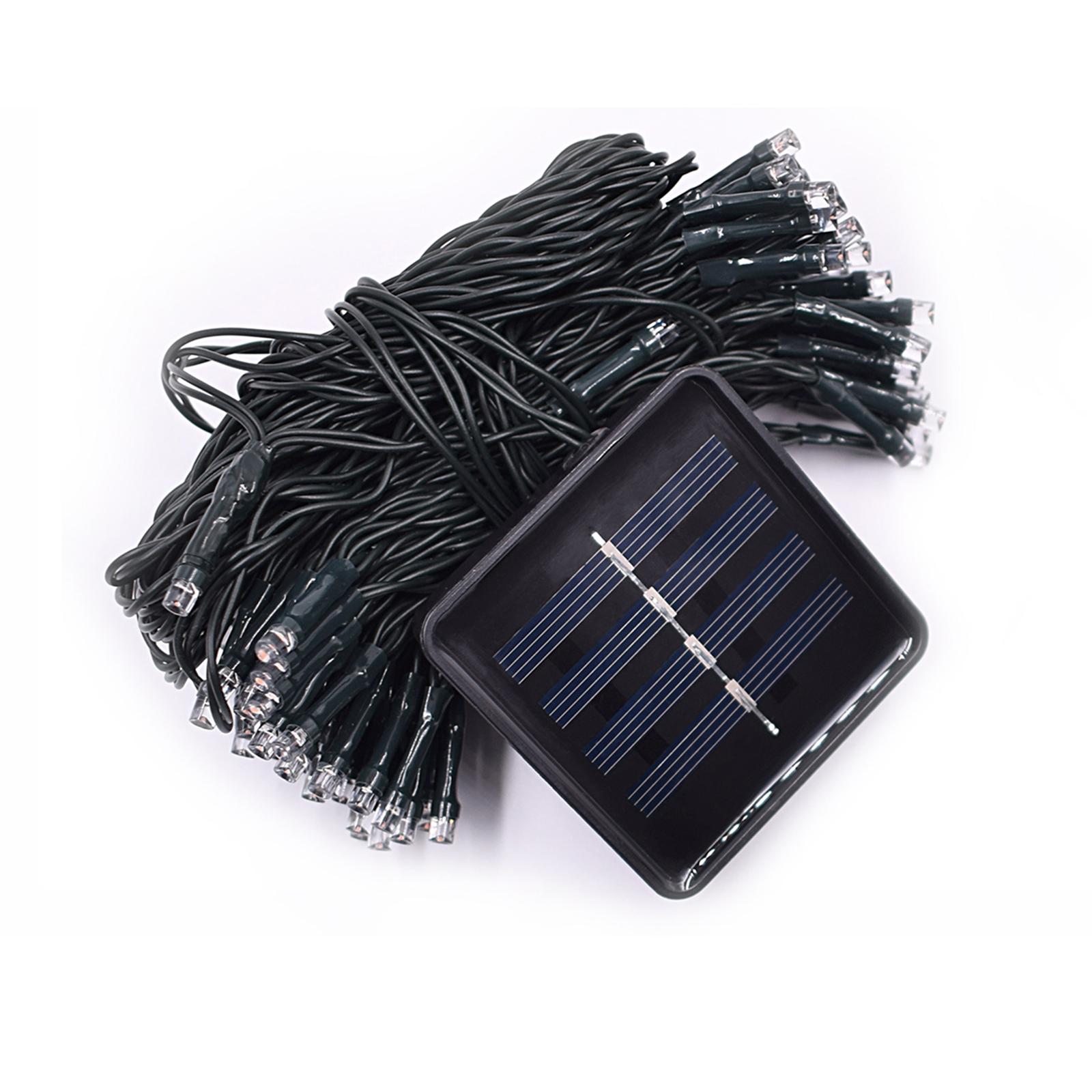 12M 100LED Solar Powered Fairy String Light Christmas Holiday Party Outdoor Garden Decor