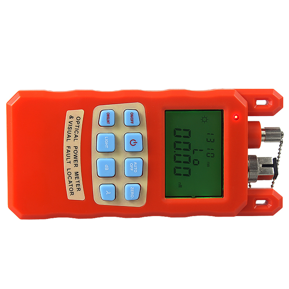 Orange Optical Power Meter Visual Fault Locator 2 In1 Machine 1-5km Red Light Source Optical