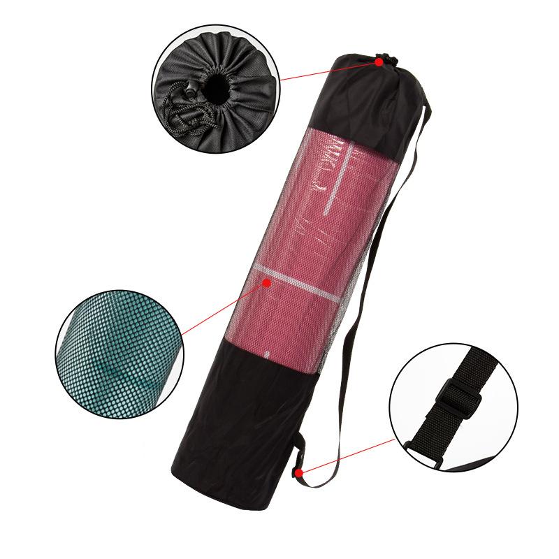 KALOAD Nylon Mesh Yoga Bag Breathable Yoga Mat Storage Backpack Gym Fitness Bag