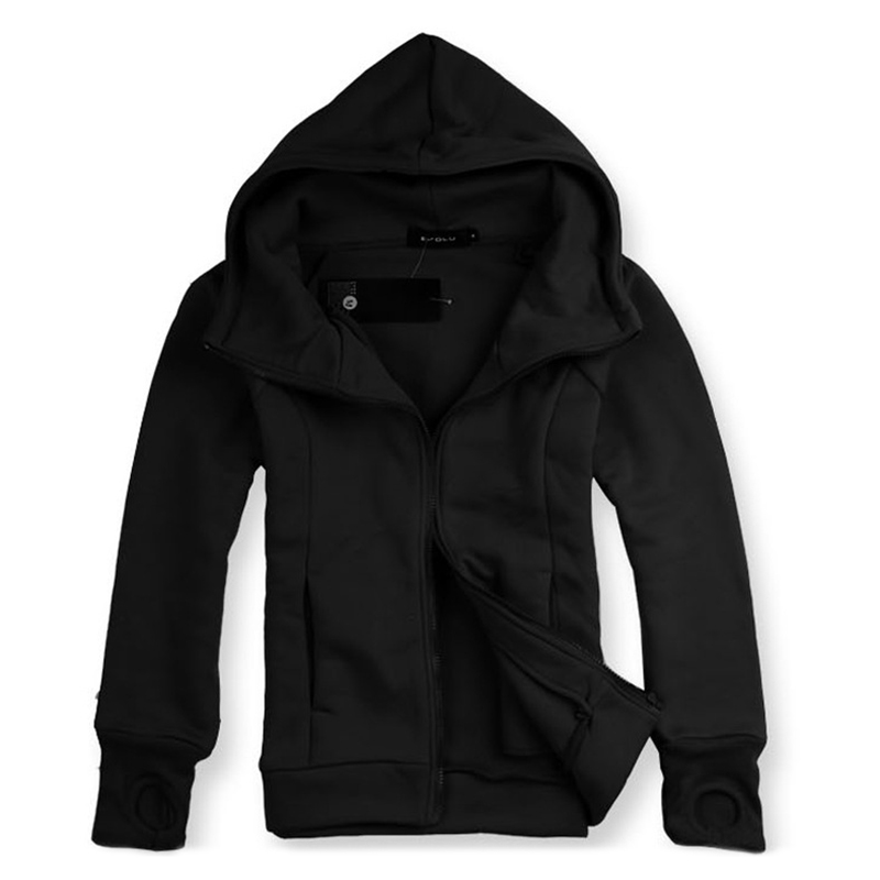 Autumn Fashion Cotton Loose Zipper Casual Thick Hooded Sweatshirt for Men