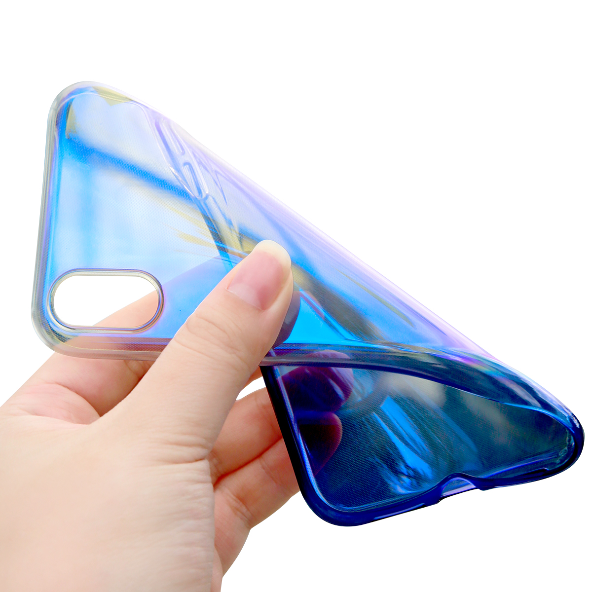 Baseus Protective Case For iPhone XR Gradient Glow Shockproof Soft TPU Back Cover
