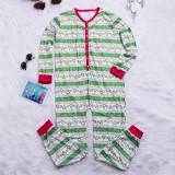 Mens Christmas Striped Pinting Sleepwear Jumpsuit Pajamas Set