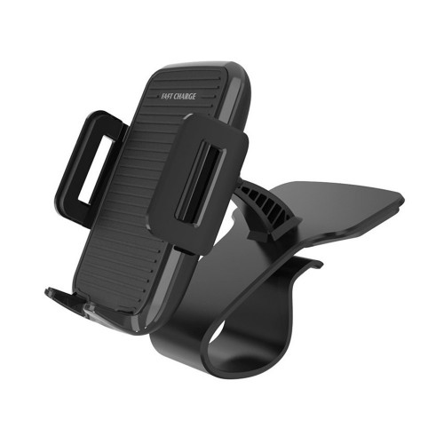 10W Qi Wireless Fast Charge 360 Degree Rotation Car Dashboard Phone Holder for iPhone 8 X Xs S8 S9