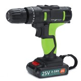 3 in 1 25V Cordless Impact Drill Double Speed Electric Screwdriver Li-ion Battery Rechargable Drill