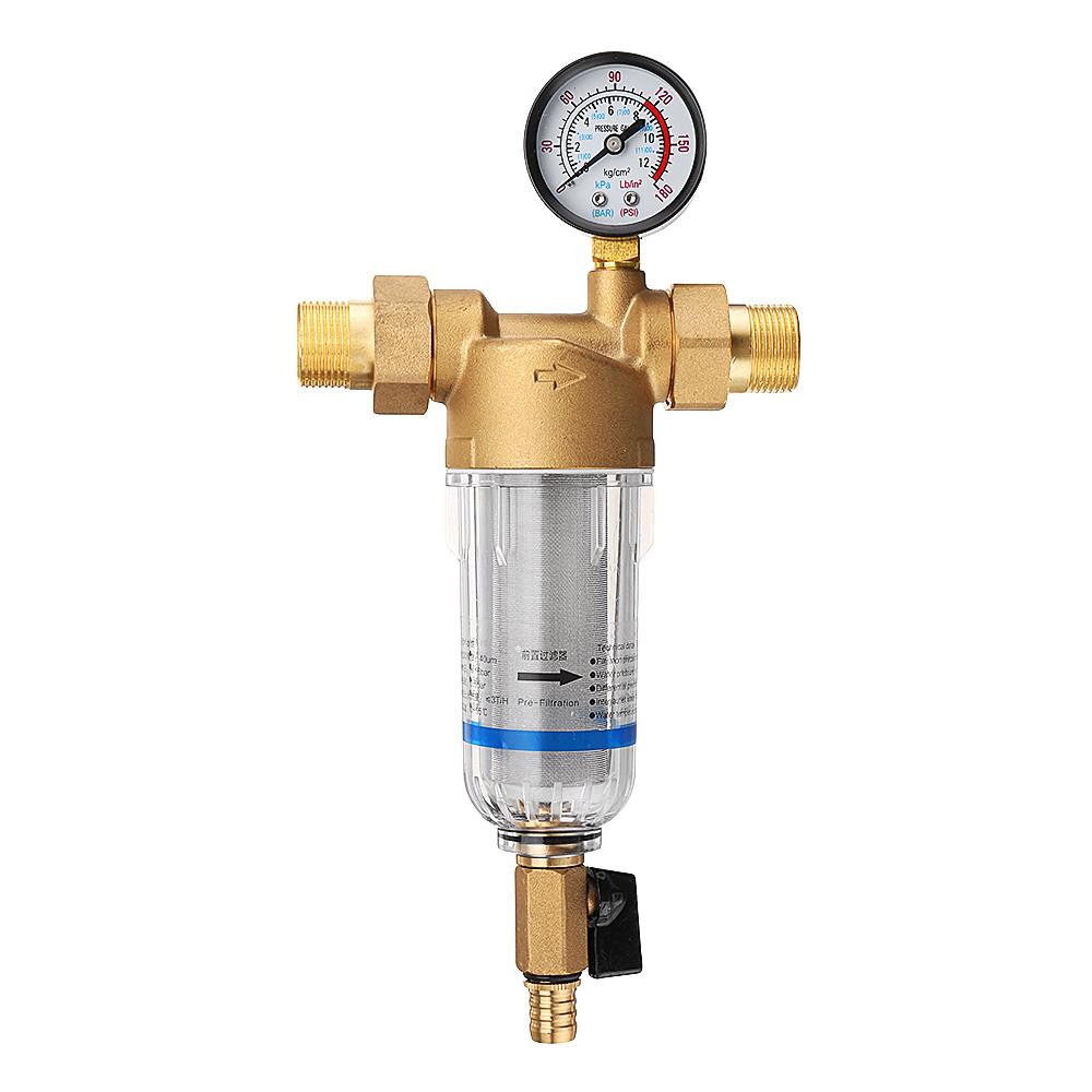 Water Pre Filter System 1/'/' To 1//2/'/' 3//4/'/' 40UM Pre-filter Brass Mesh Prefilter