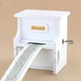 15 Tone DIY Piano Hand Cranked Music Box With Hole Puncher And Paper Tapes