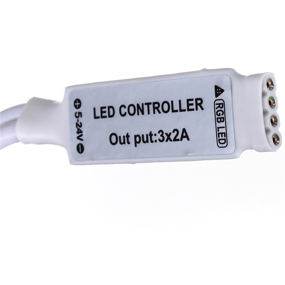 3pcs DC12V 24 Keys Mini IR Remote Control 3528 5050 RGB LED Strip Light Controller