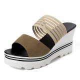 Summer Women Open Toe Wedge Sandals Comfortable Slipper Shoes