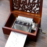 30 Tone DIY Hand Cranked Carved Music Box With Hole Puncher Paper Tapes