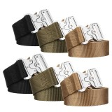 Military Tactical Belt Heavy Duty Webbing Belts Military Style Nylon Belts with Metal Buckle