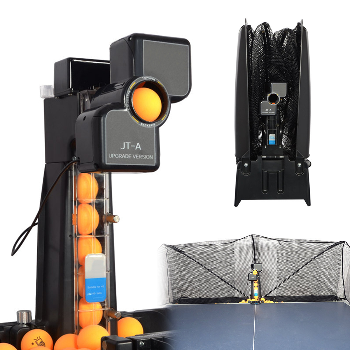 JT-A Table Tennis Robot Automatic Ping Pong Ball Machine ...