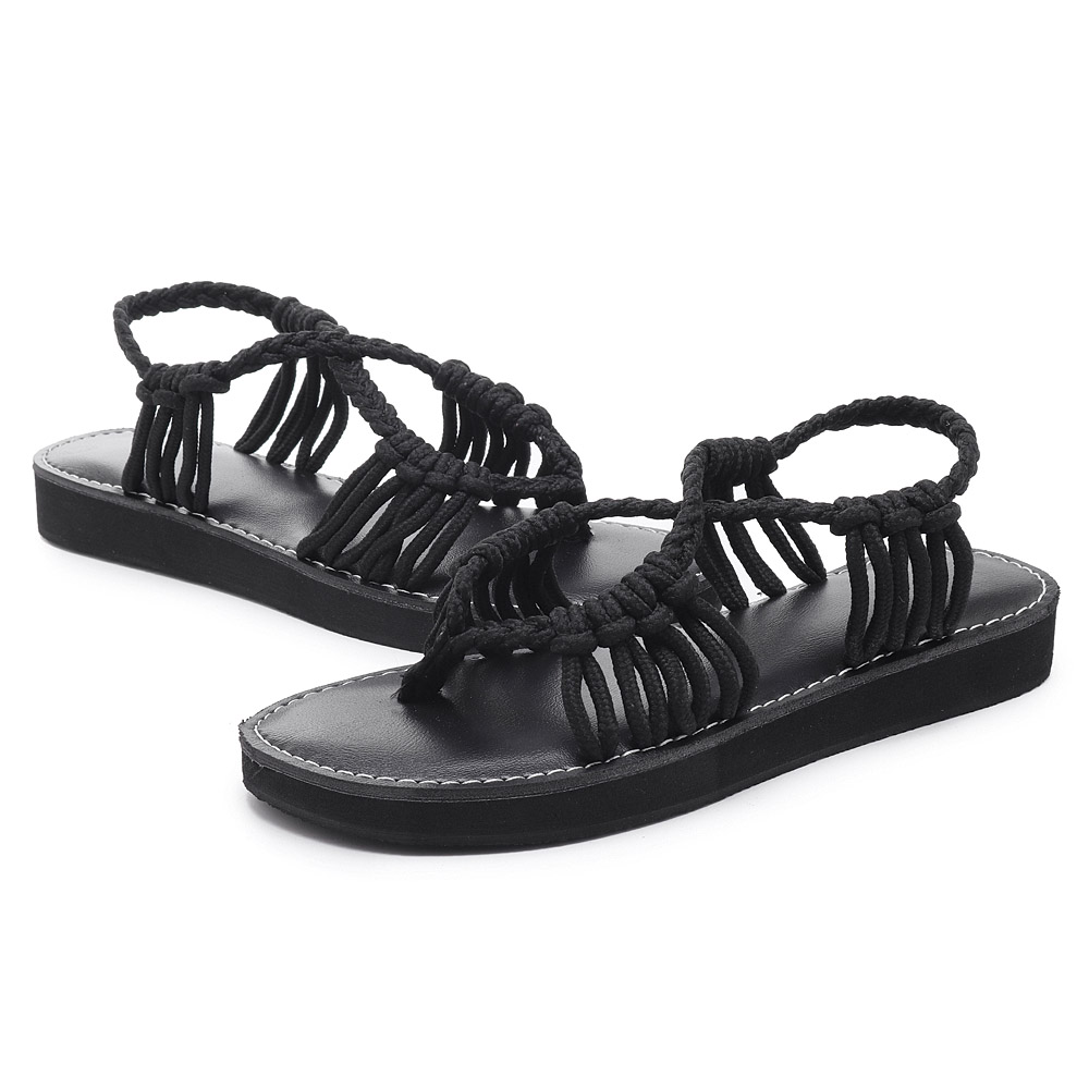 Flip Flops Summer Beach Braided Strap Sandals for Women