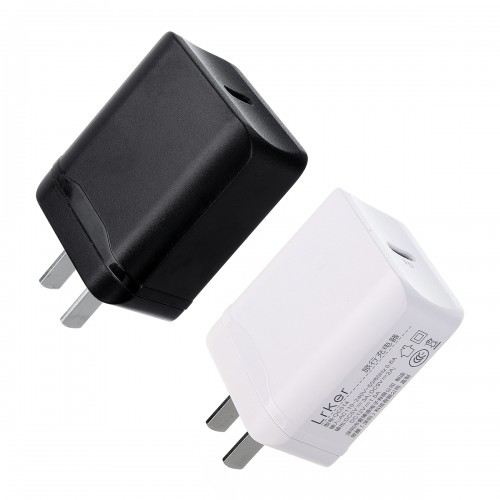 110-240V 18W Type-C USB Quick Wall Charging PD Charger Adapter