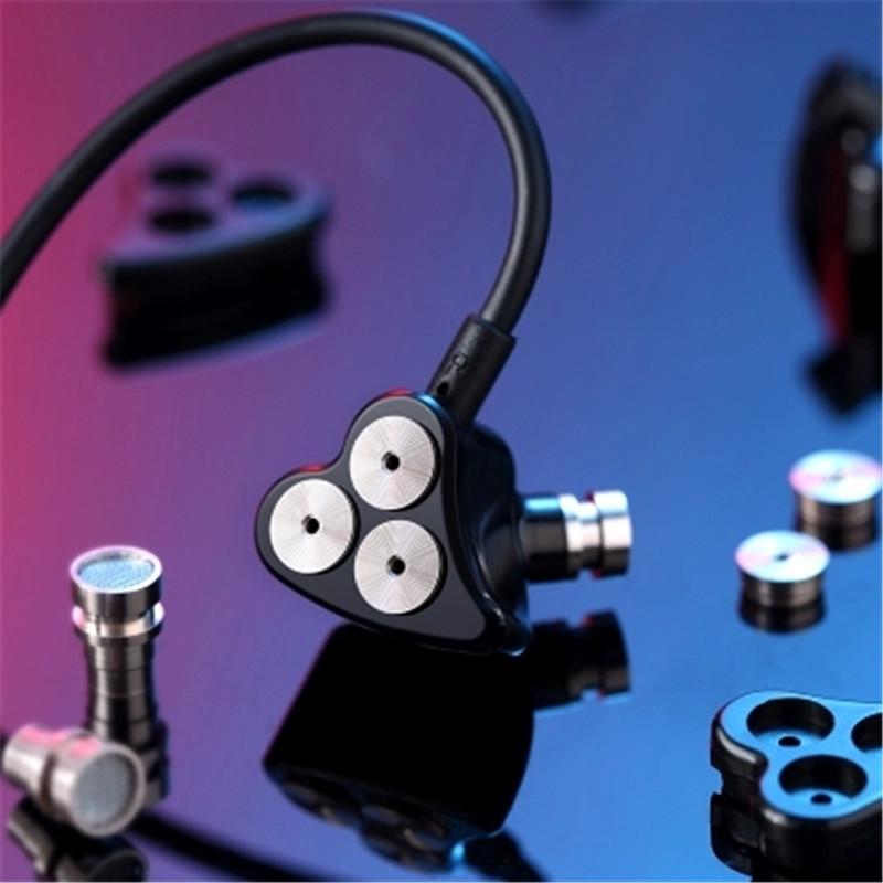 3.5mm Jack Six Dynamic Units Earphone In-ear HIFI Bass Noise Cancelling Sports Earbuds Headset