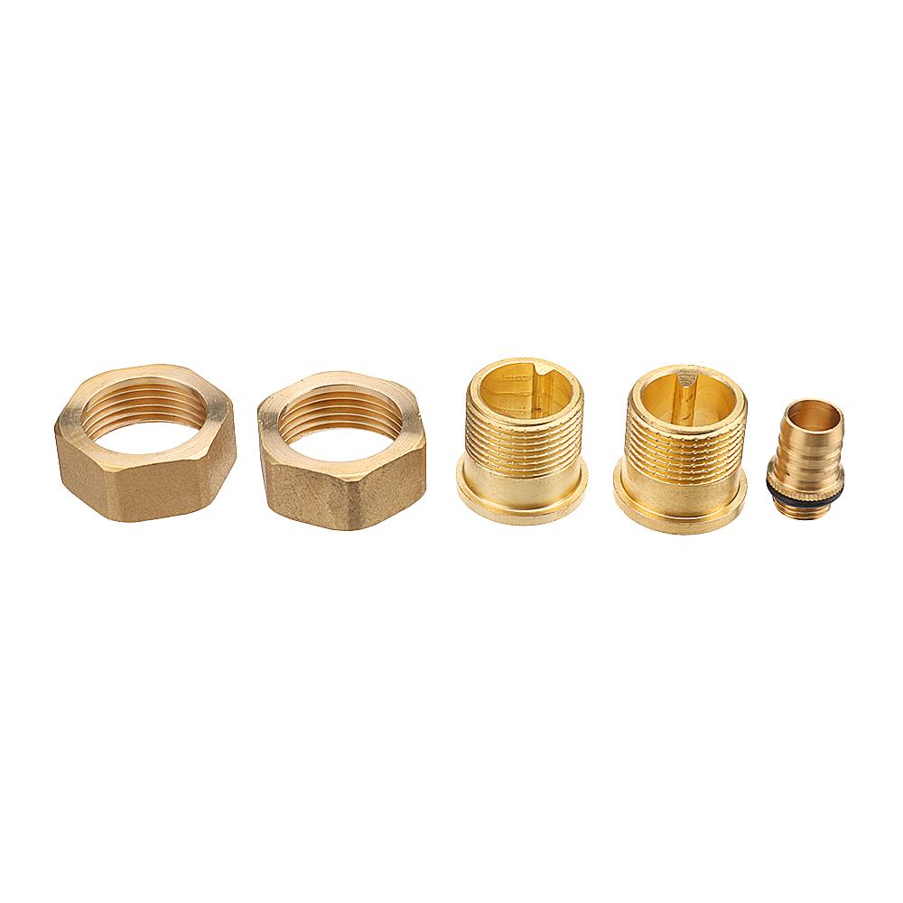 """TMOK Water Pre Filter System 3/4"""" & 1"""" Brass Mesh Prefilter Purifier w/ Reducer Adapter"""