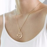 Vintage Pendant Necklace Semi-Circle Irregular Chain Charm Necklace Ethnic Jewelry for Women