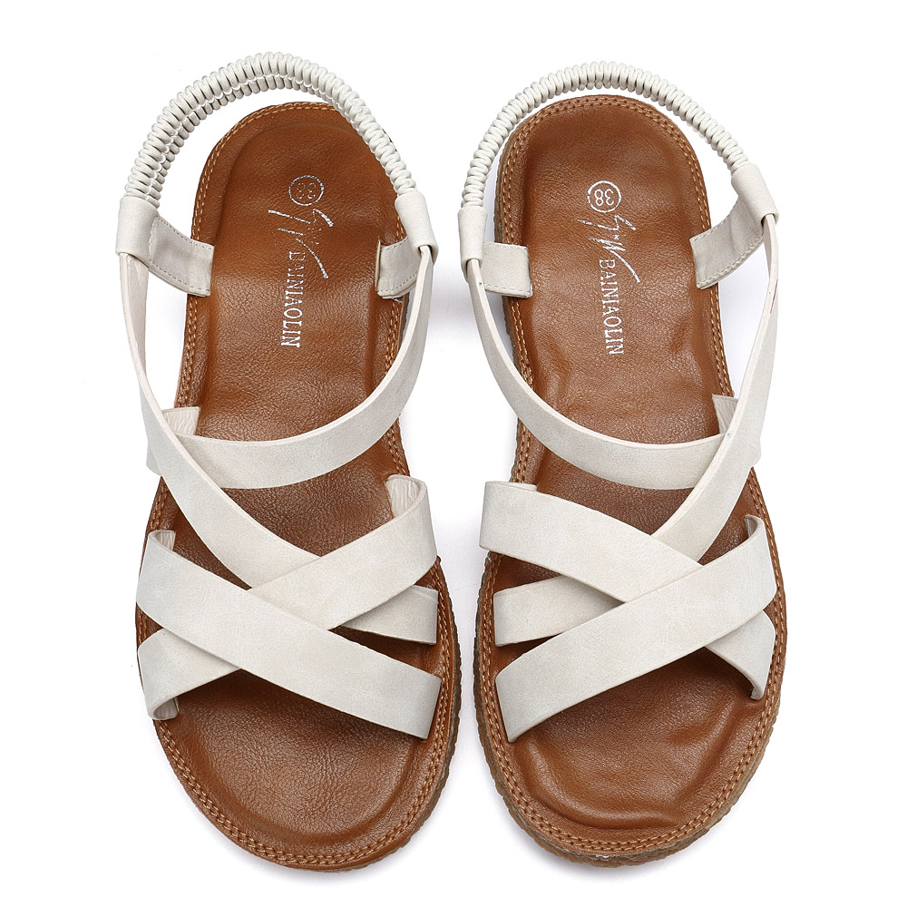 Women Shoes Roman Cross Elastic Band Sandals