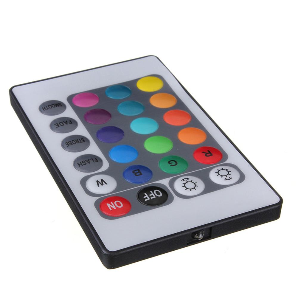 5pcs DC12V 3528 5050 RGB LED Strip Light Controller with 24 Key Mini IR Remote Control