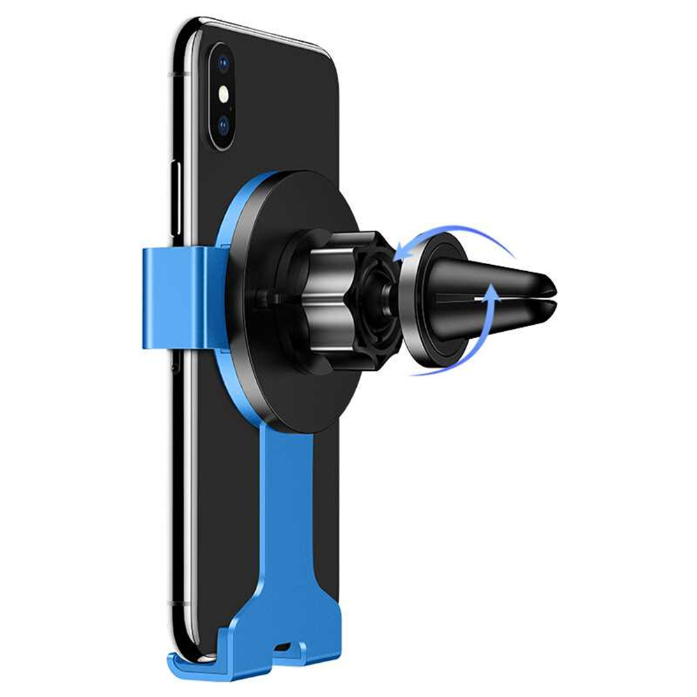 USAMS Metal Gravity Auto Lock Multi-angle Rotation Car Mount Holder for iPhone Xiaomi Mobile Phone