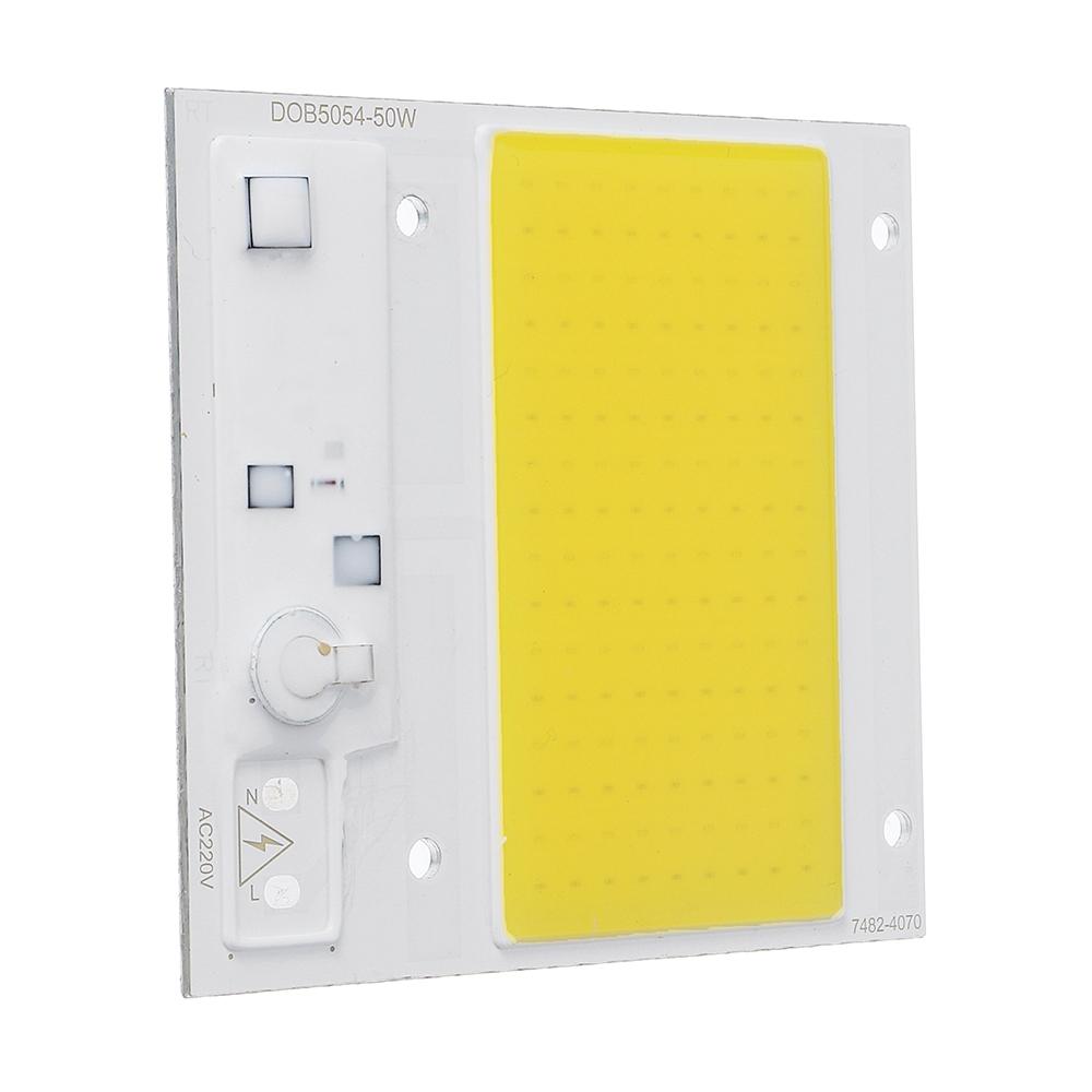 LUSTREON 50W 100W Pure White/Nature White Thunder Protection COB LED Chip for Flood Light AC220-240V