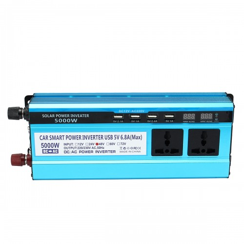 Solar Power Inverter 5000W Peak DC 12/24/48V To AC 220V Modified Sine Wave Converter