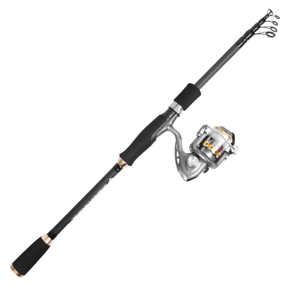 LEO 27960 L210 L240 2.1M 2.4M Carbon Telescopic Spinning Fishing Rod Super Hard Travel Sea Fishing