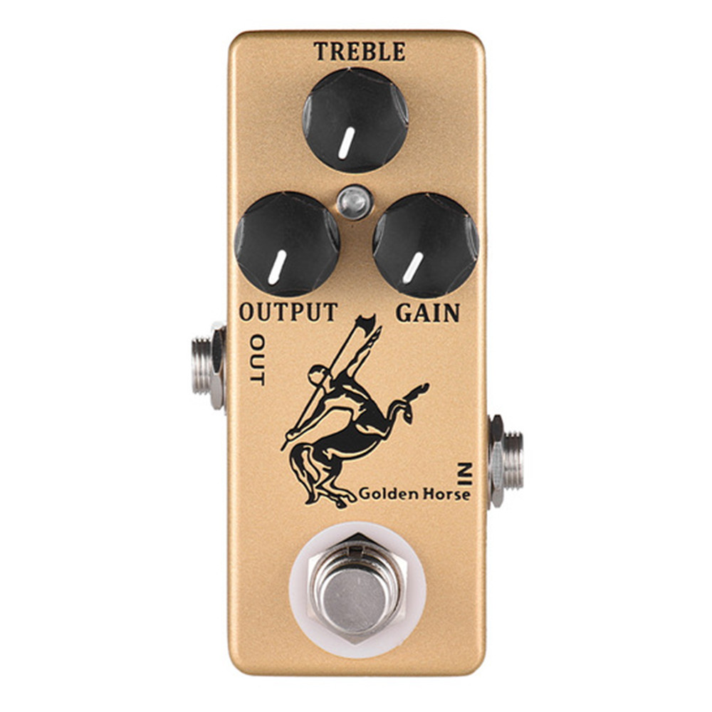 mosky golden horse guitar effects pedal overdrive effects pedal full metal shell. Black Bedroom Furniture Sets. Home Design Ideas