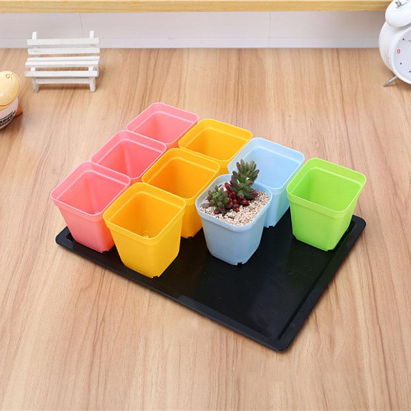 Plants Nursery Tray Long Rectangular Plastic Flower Pot Tray Multi-flesh Seedling Ceramic Pot Tray