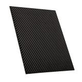 200x250x(0.5-2)mm Carbon Fiber Plate Panel Sheet 3K Twill Weave Glossy Black Carbon Fiber Board