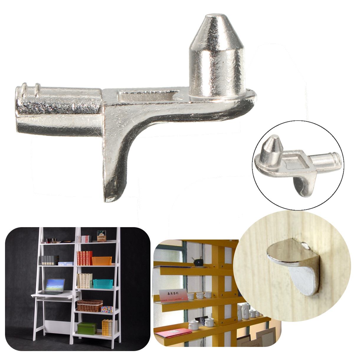 Furniture Shelf Metal Support Pins Holder Kitchen Cabinet ...