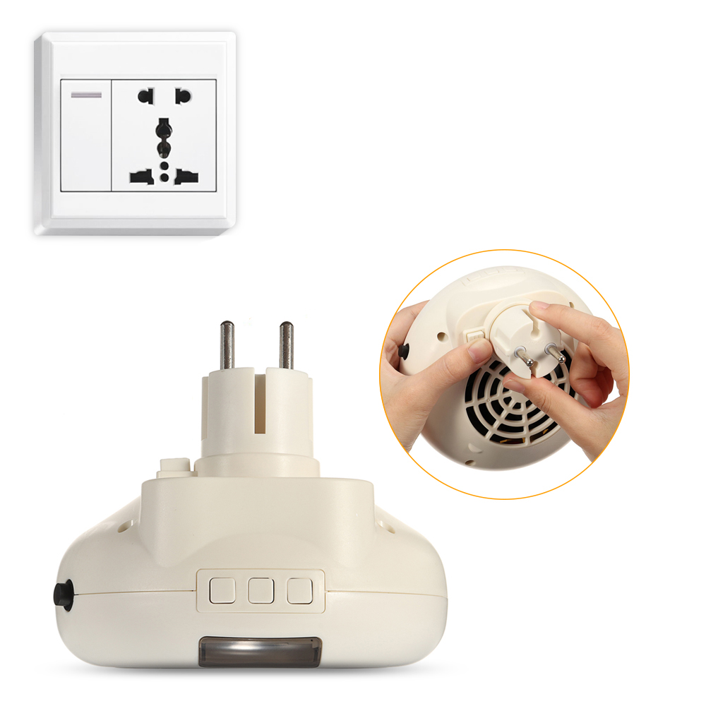 Portable 900W Mini Electric Wall Outlet Space Instantly Heating Warm Heater