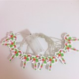 Battery Powered 2M Warm White Candy Shape Holiday Christmas Party 20 LED Fairy String Light