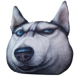 KCASA KC Doge Kabosu Cushion Plush Cartoon Pillow Husky Akita Car Cushion Creative Dog Shape Pillow