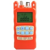 Orange Optical Power Meter Visual Fault Locator 2 In1 Machine 1-5km Red Light Source Optical