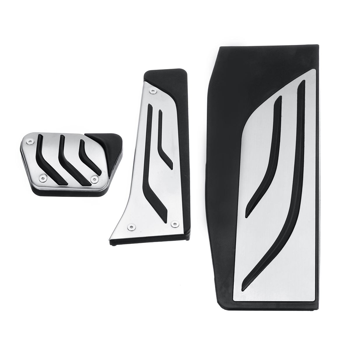 3Pcs Stainless Steel Car Interior Brake Accelerator Pedal Cover Trim Pad for BMW Series