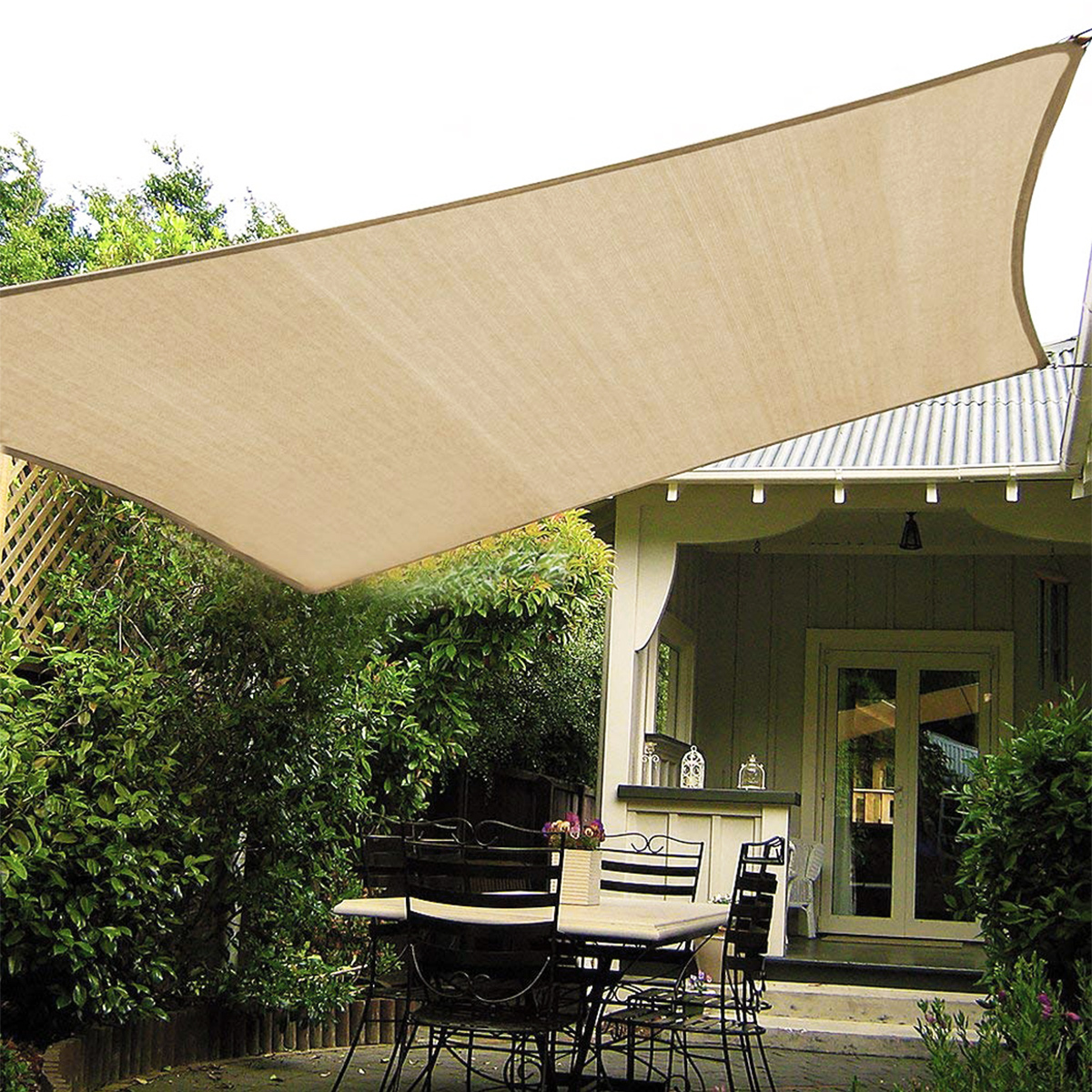 300D Tent Sunshade Waterproof UV Canopy Portable Camping Hanging Tent Folding Picnic Mat