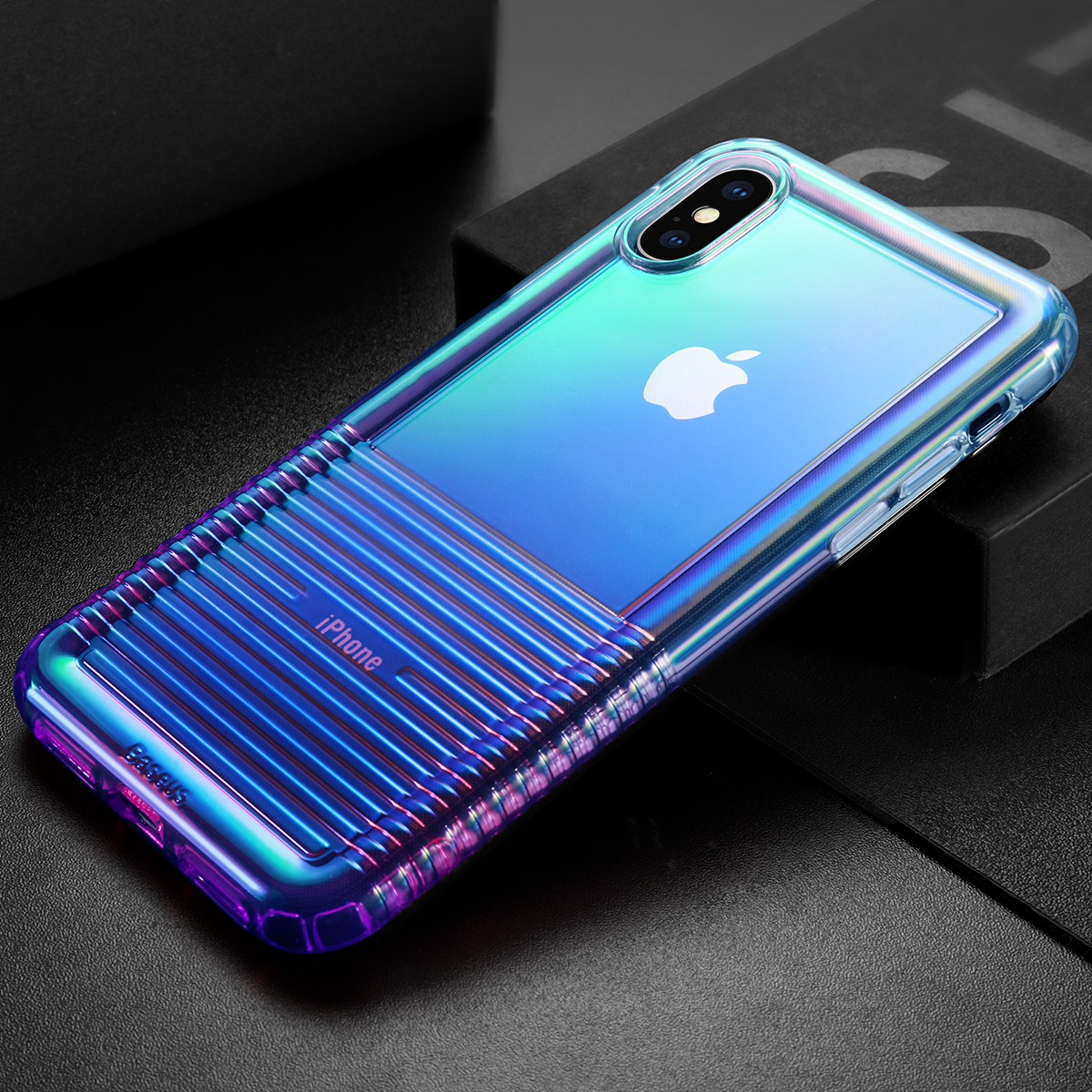 "Baseus Protective Case For iPhone XS 5.8"" Plating Airbag Soft TPU Back Cover"
