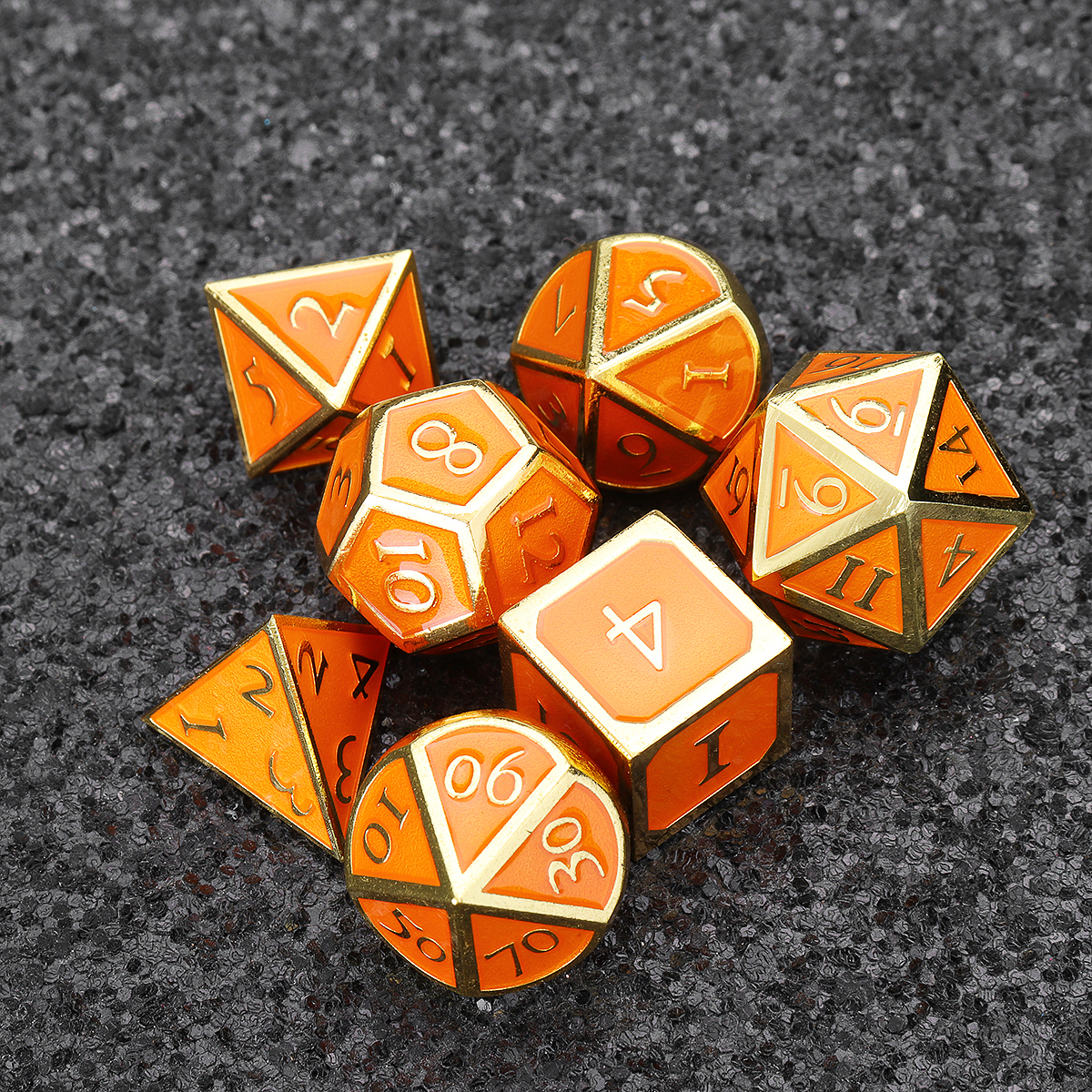 Solid Metal Heavy Dice Set Polyhedral Dices Role Playing Games Dice Gadget RPG
