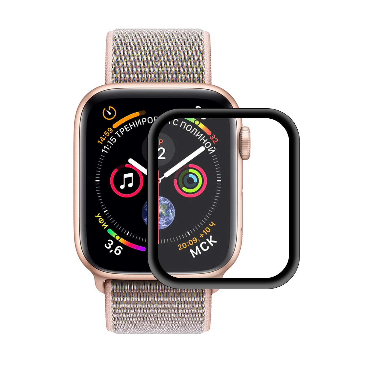 Enkay Tempered Glass Screen Protector For Apple Watch Series 4 40mm 0.2mm 3D Curved Edge 9H Film