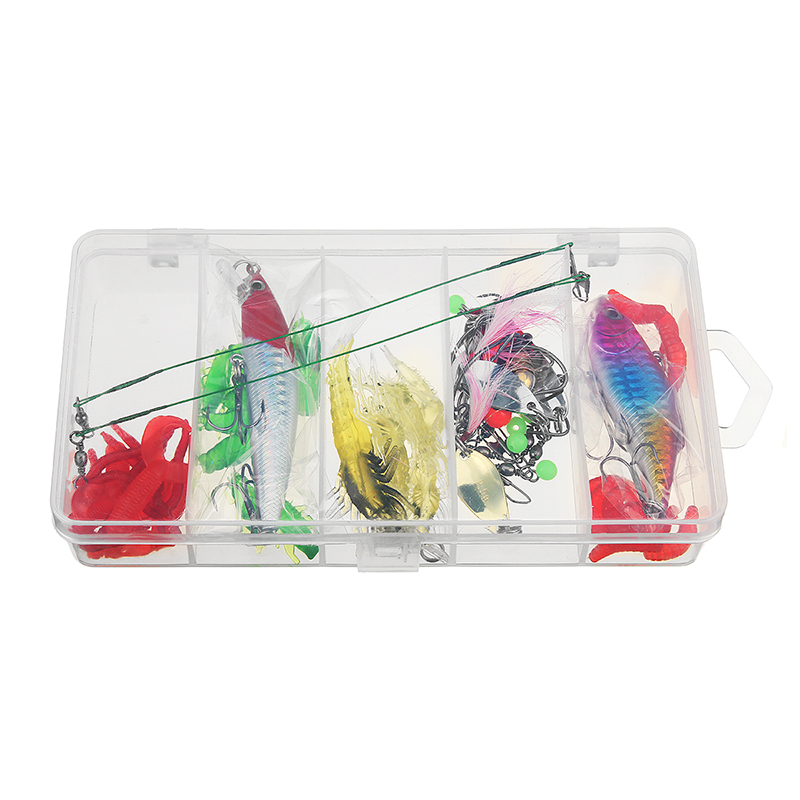 24/72/83Pcs/Set Soft Hard Fishing Lure With Box Set Small Lure Bass Crank Bait Hooks Kit