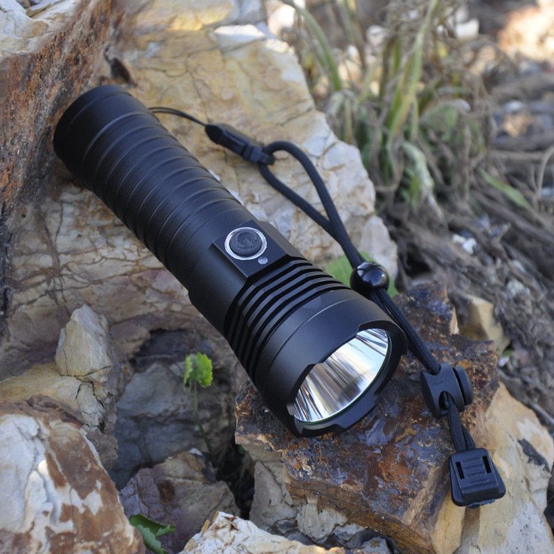 Coomas G7 T6 1100Lumens 4 Modes USB IPX6 Waterproof Portable LED Flashlight 26650 Battery