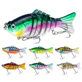ZANLURE XY-238 5pcs/set 15.6g 10cm 7 Section Swimbait Hard Bait Fishing Lure Isca Artificial Lures
